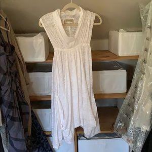 White gauzy All Saints Spitalfields Dress